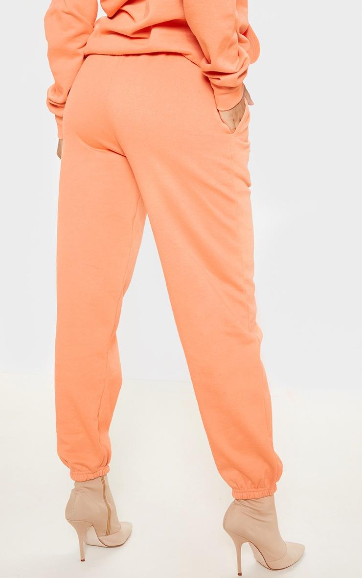 Peach Basic Slogan Casual Jogger 4