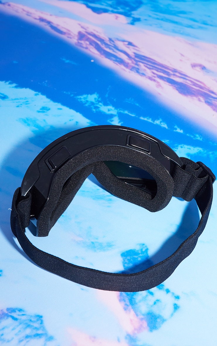 Black Rose Gold Chrome Lens Ski Goggles 3
