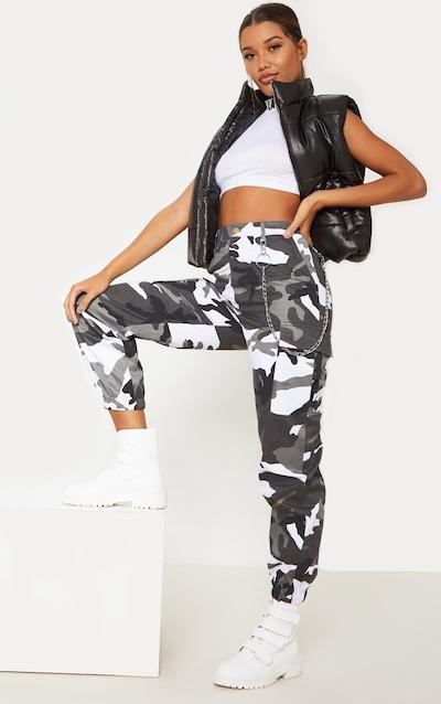 Grey Camo Pocket Detail Cargo Trouser