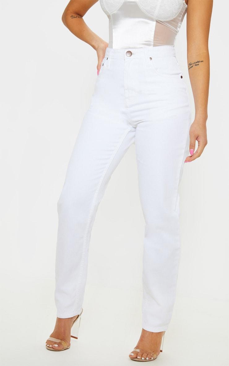 Petite White Straight Leg Jeans 2