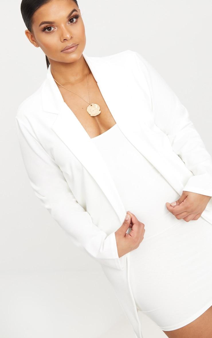 PLT Plus - Blazer long blanc 5