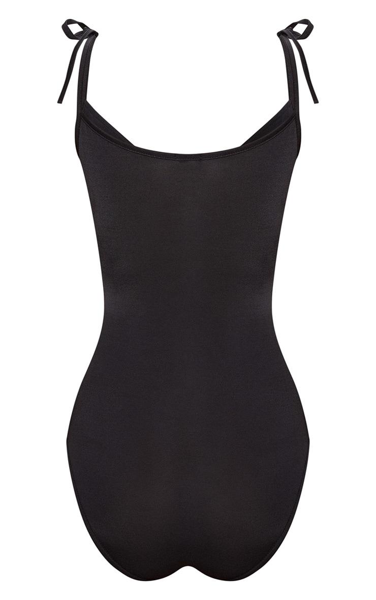 Black V Bar Tie Arm Bodysuit 4