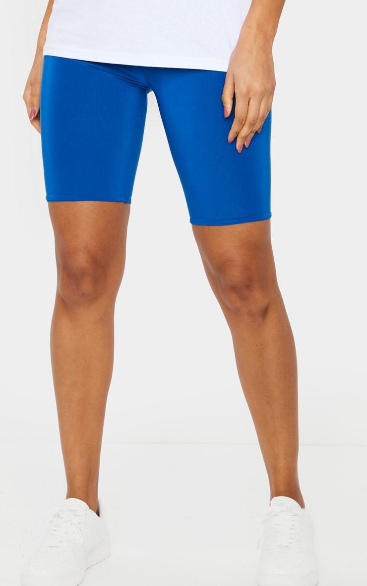 Cobalt Slinky High Waisted Cycle Shorts 2