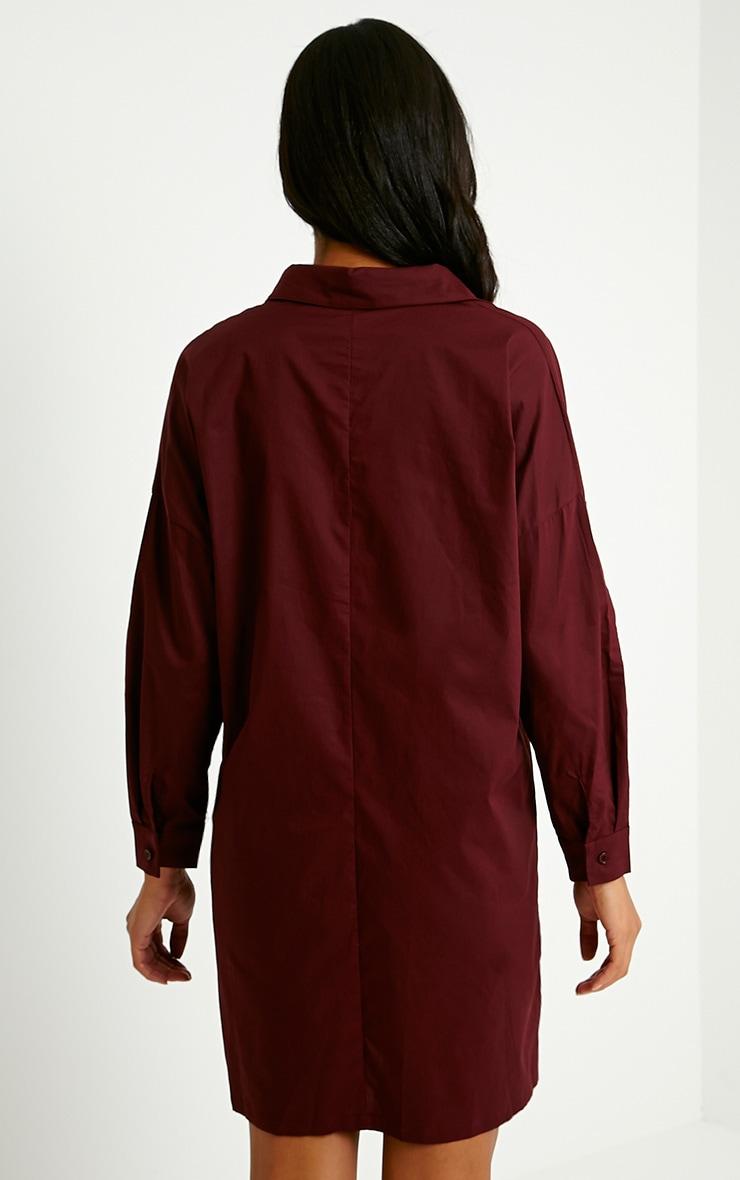 Carson Oxblood Shirt Dress 2