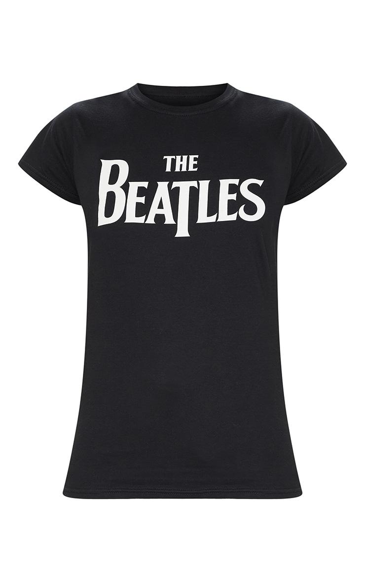 Tee-shirt noir à slogan The Beatles 3