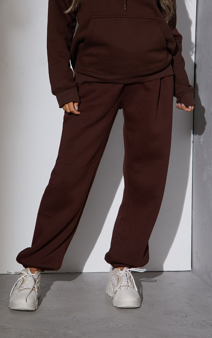 RENEW Maternity Chocolate Ultimate High Rise Joggers 2