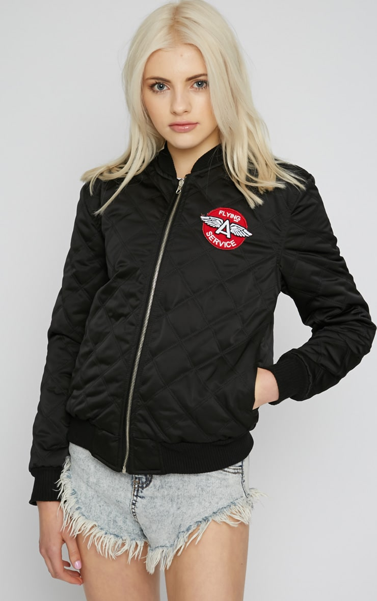 Carissa Black Quilted 'Flying Service' Jacket 5