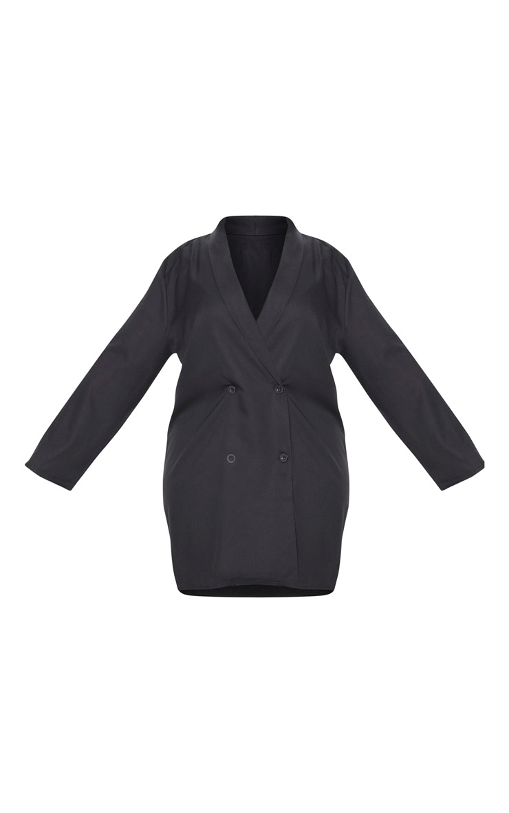 Plus Black Oversized Blazer Dress 3