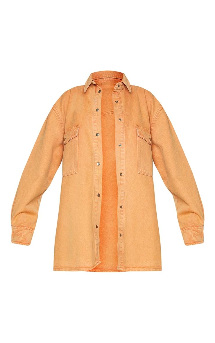 Rust Oversize Denim Boyfriend Shirt 5