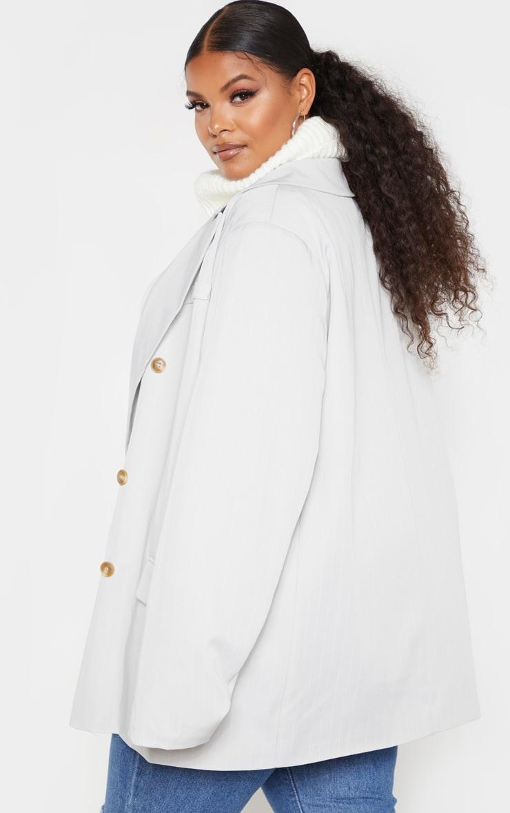 Plus Mint Oversized Pinstripe Woven Blazer 2
