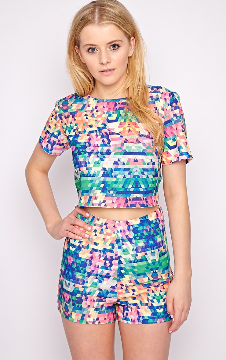 Lacey Multi Print Crop Top  3