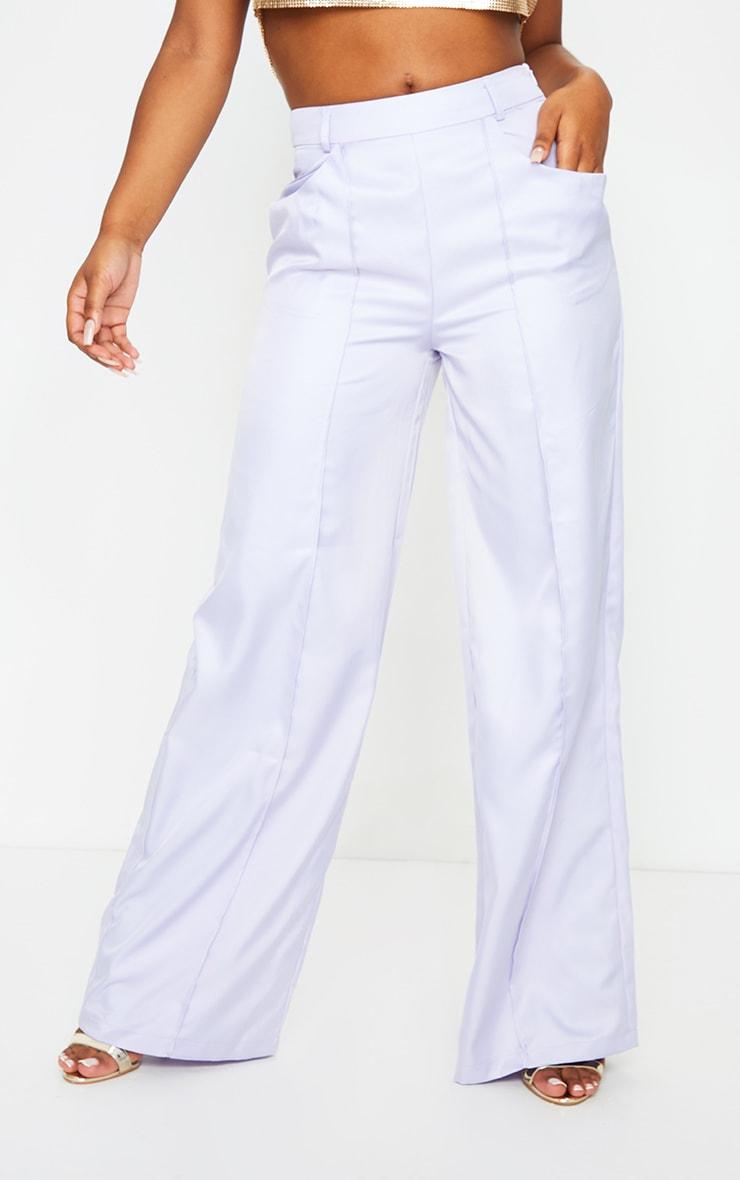 Lilac Seam Detail Wide Leg Pants 2
