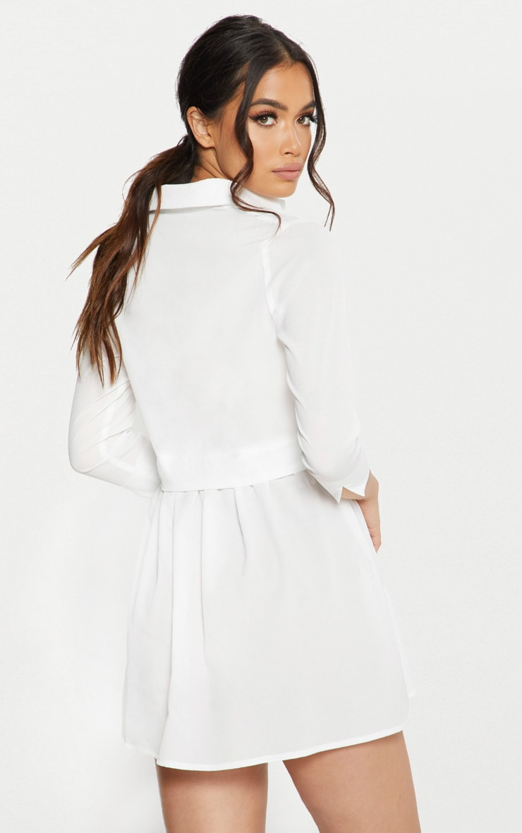 White Layer Shirt Dress 2