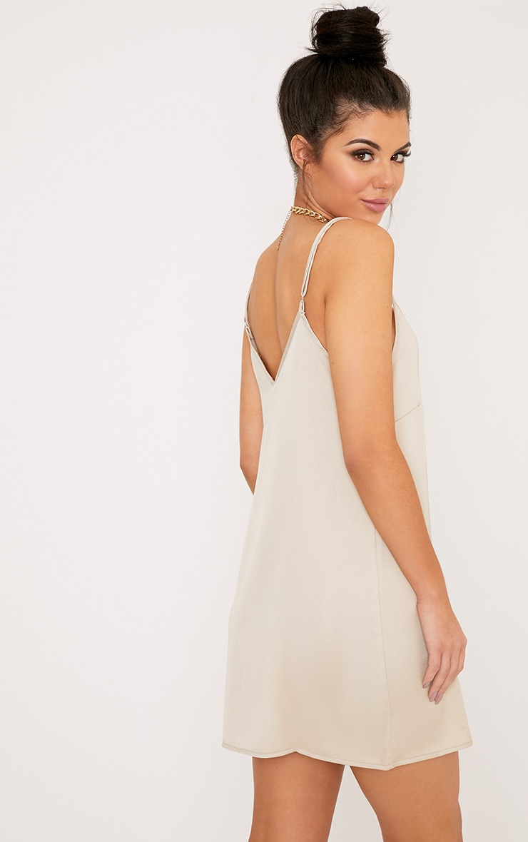 Ameera Champagne Satin Slip Dress 2