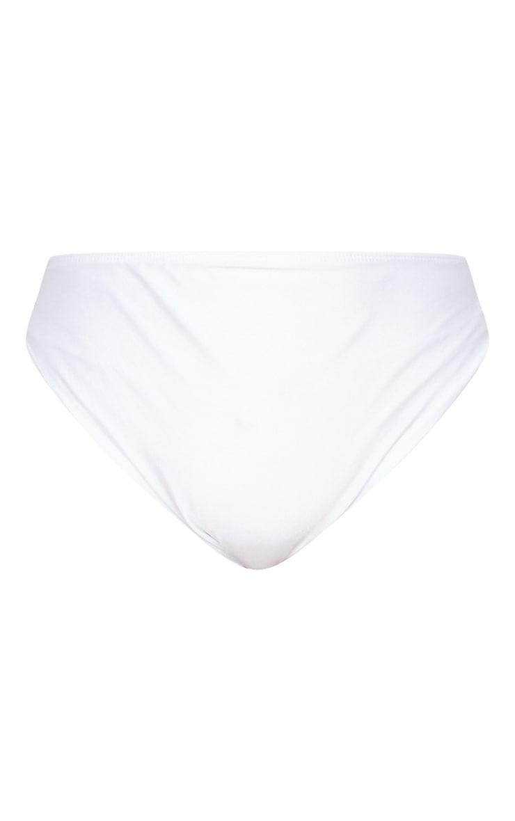 Plus White Mix & Match Triangle Bikini Top 5