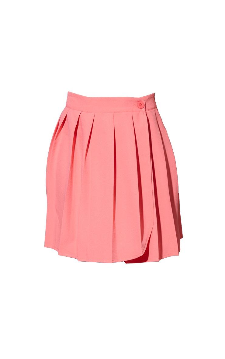 Bubblegum Pink Woven Skater Skirt 6