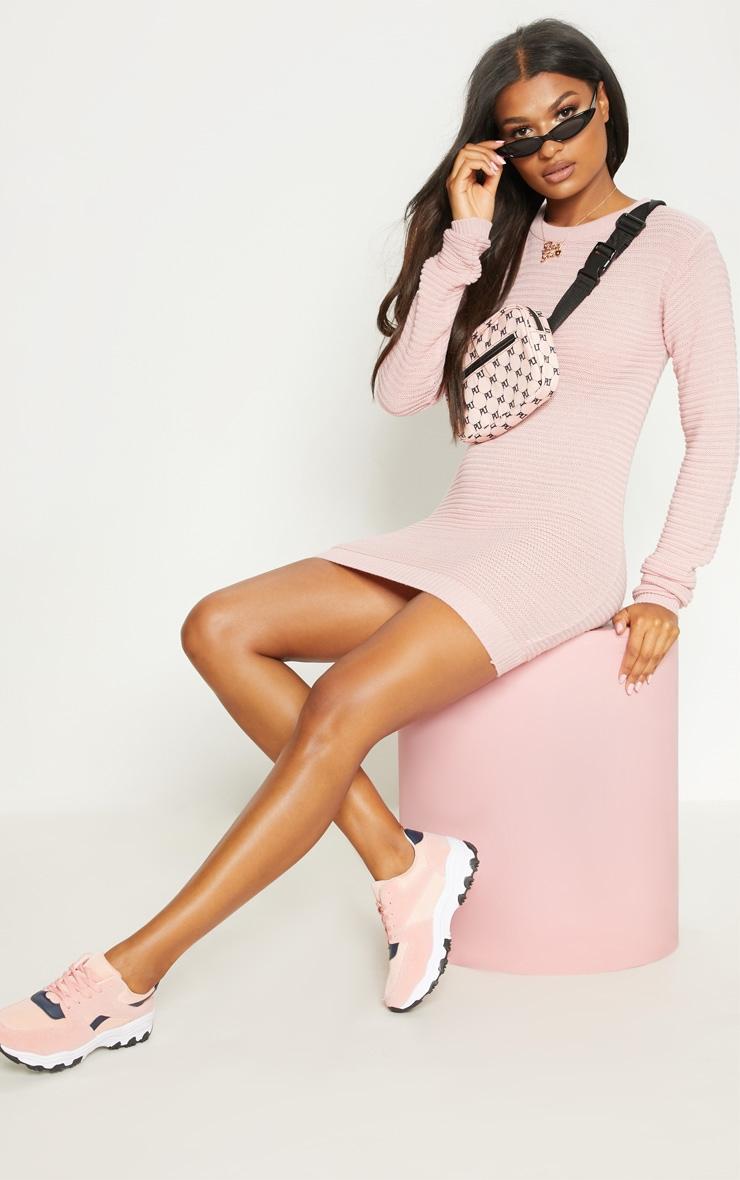 Nude Fine Knit Jumper Dress 1