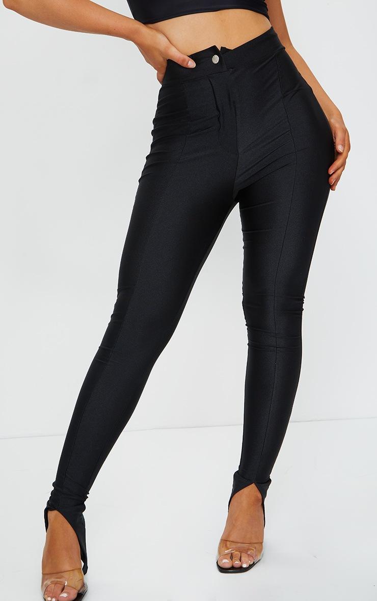 Black Disco Split Hem Skinny Trousers 2