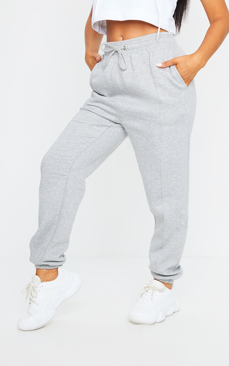 Grey Seam Front Detail Joggers 2