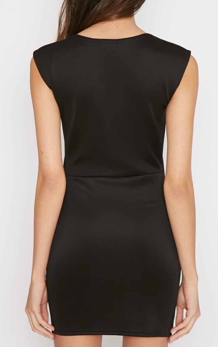 Itzel Black Cut Out Mini Dress 2