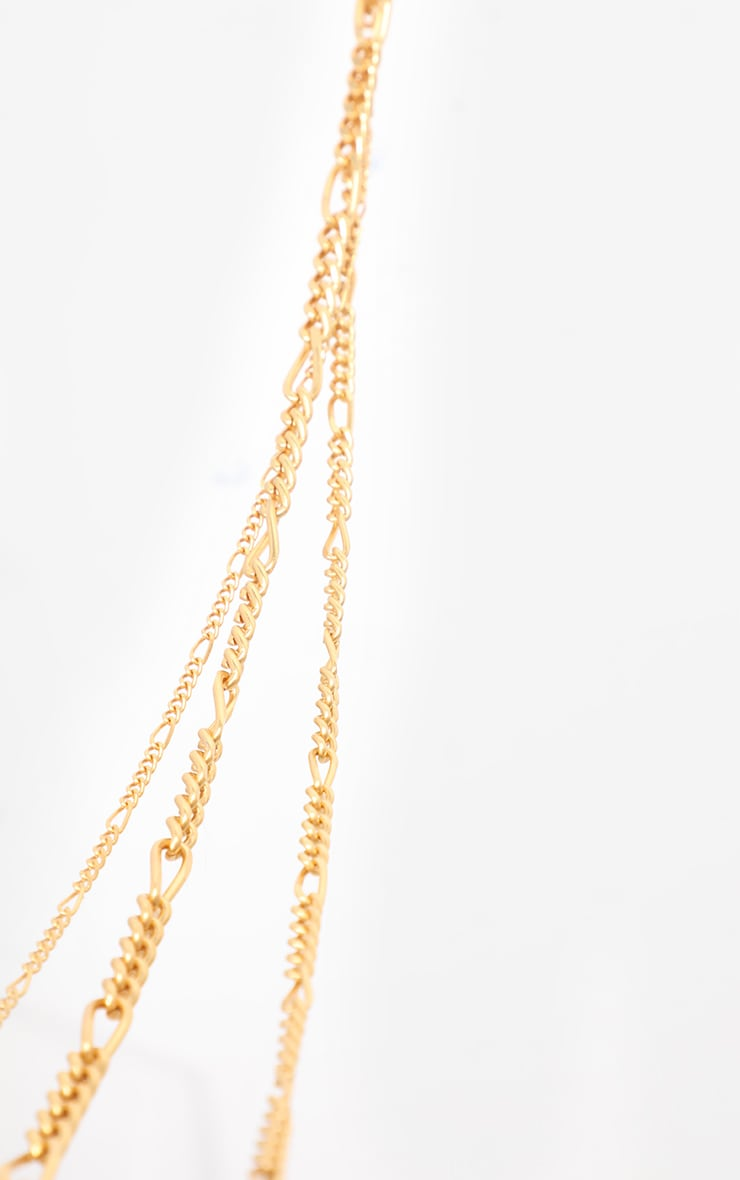 Gold Multi Layered Necklace 4