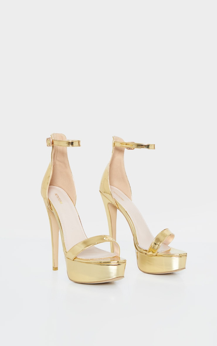 Gold Patent High Platform Heels 3