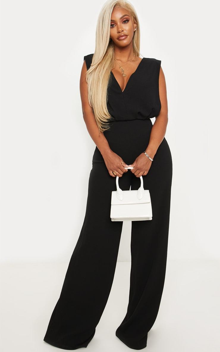 Shape Black Side Boob Wide Leg Jumpsuit 4