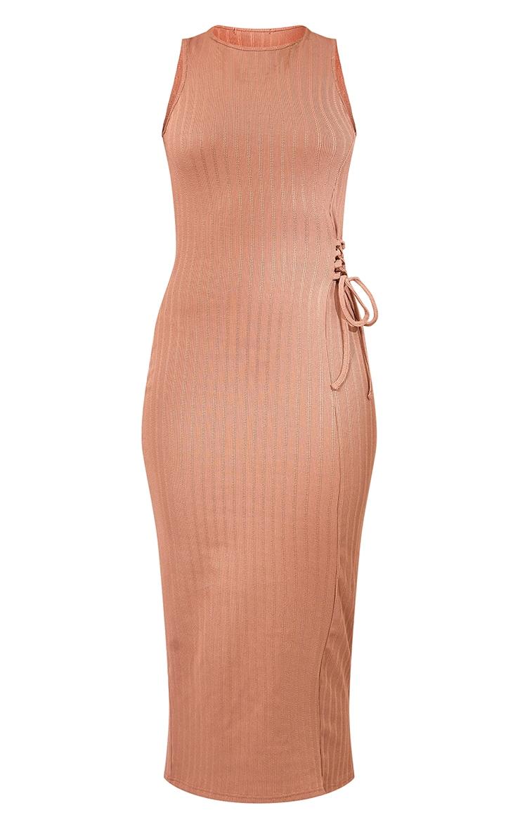 Stone Broderie Rib Sleeveless Midi Dress 5