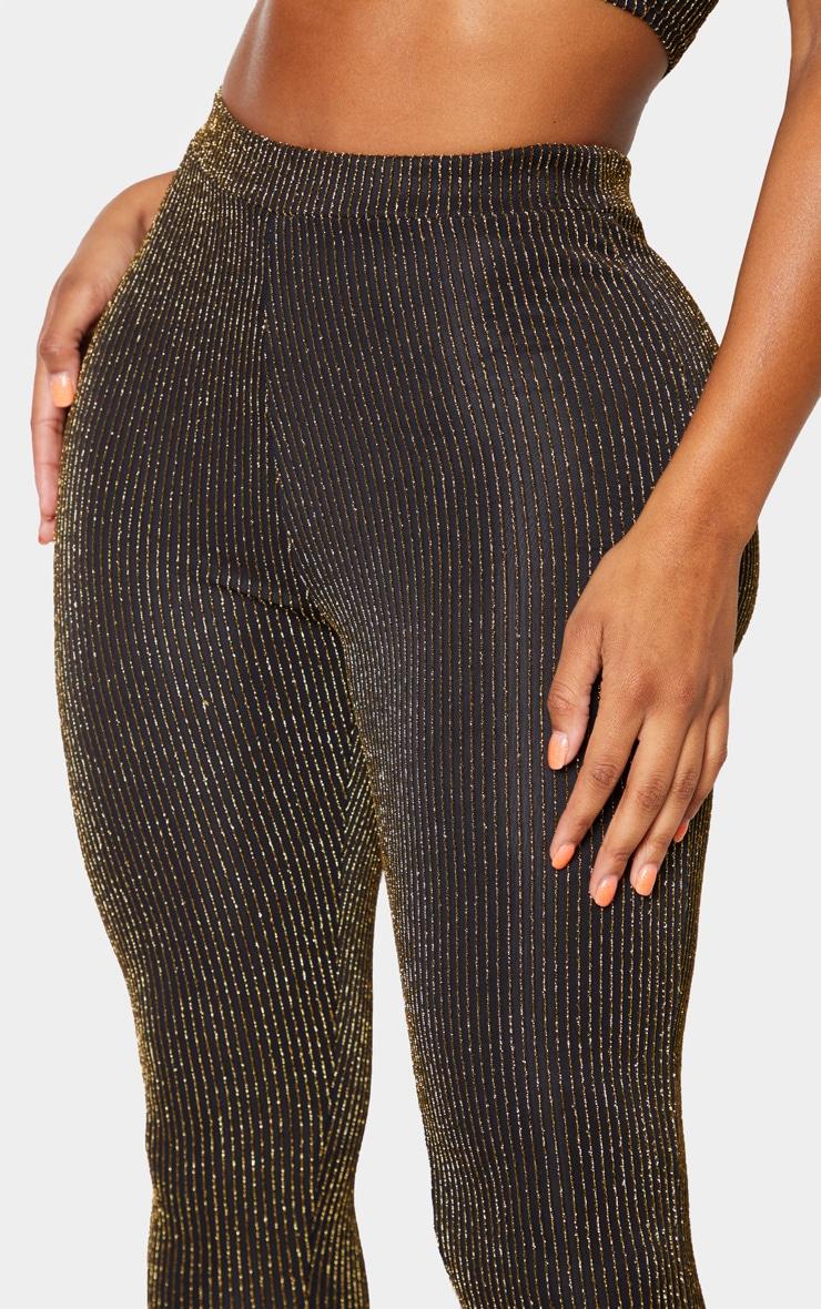 Shape Gold Striped Glitter Leggings 5