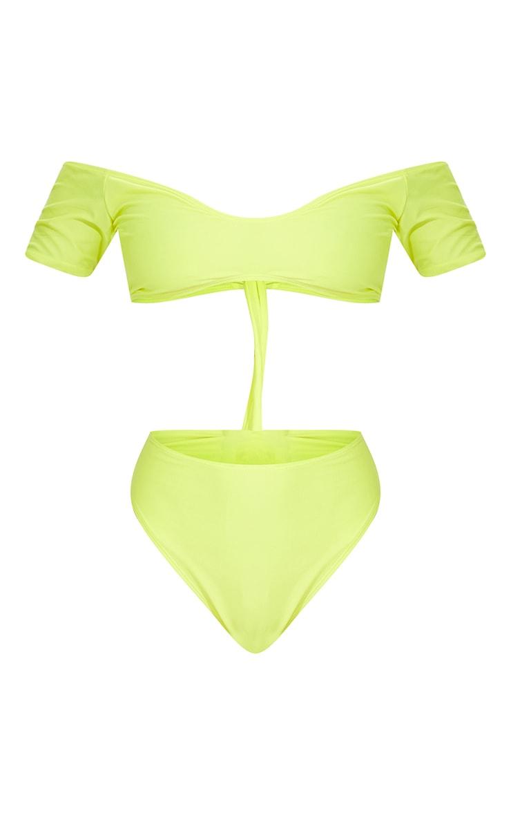 Lemon Bardot Tie Back Bikini Top 5