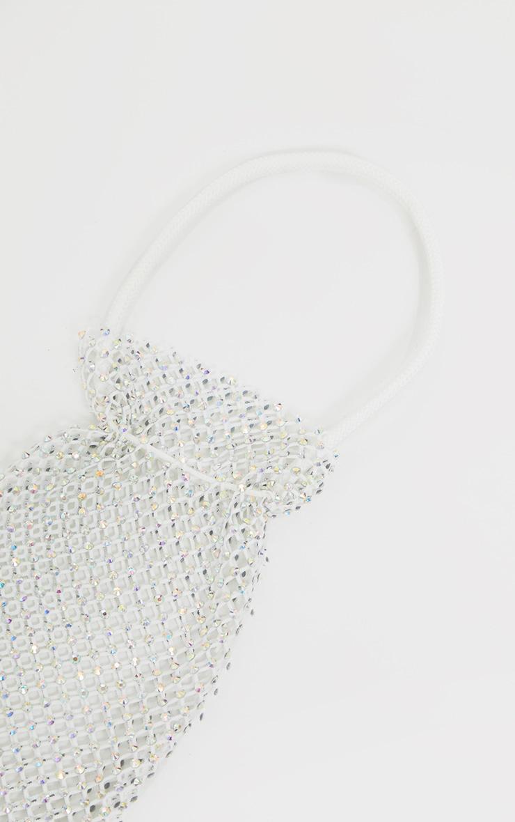 White Diamante Chain Grab Bag 3