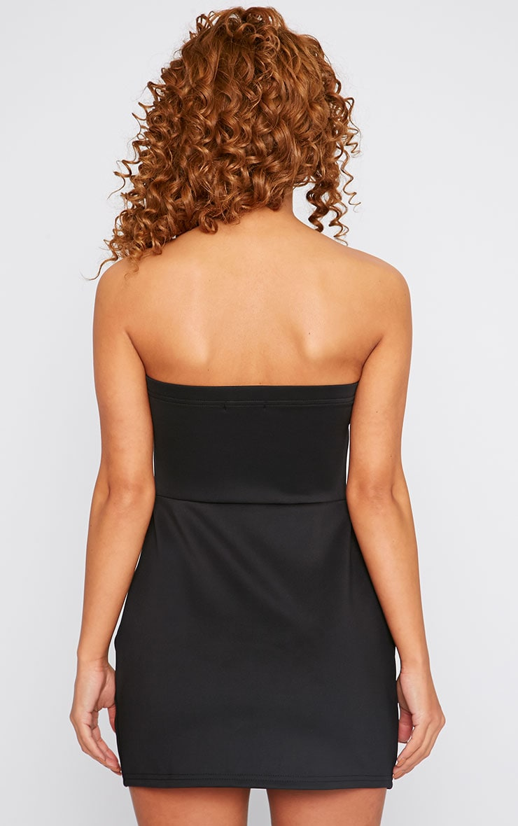 Yelina Black Structured Plunge Dress 2