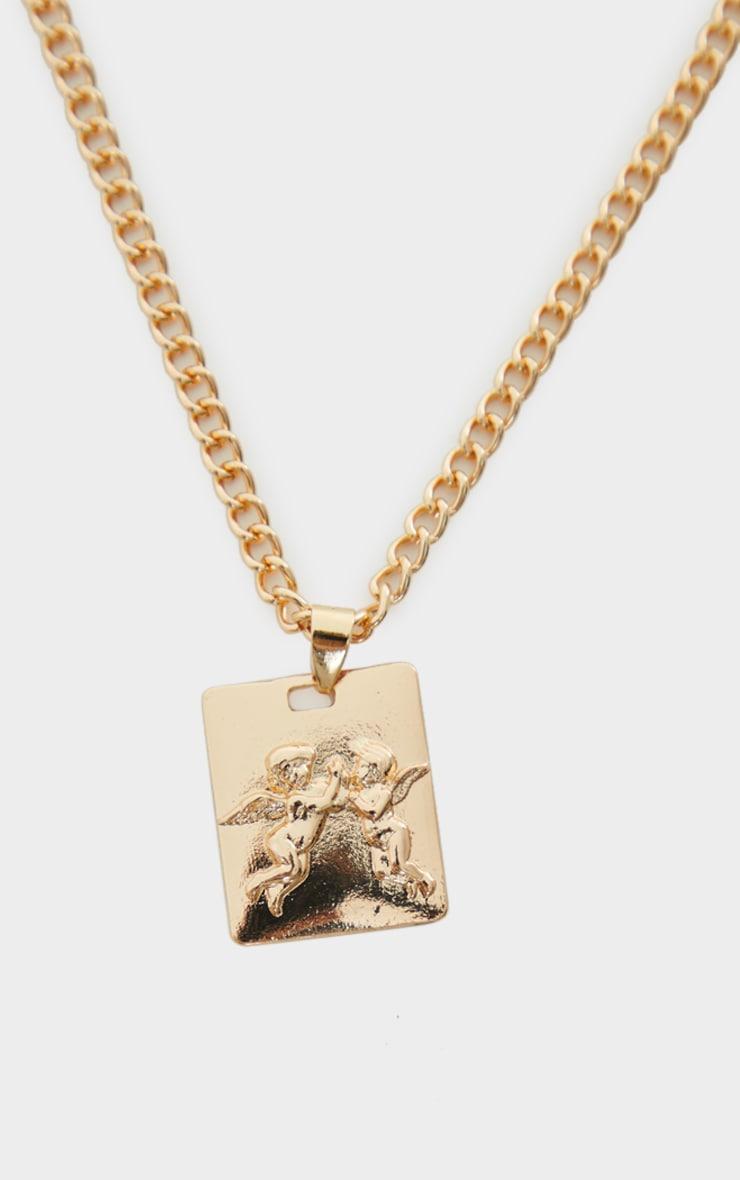 Gold Cherub Pendant Necklace 4