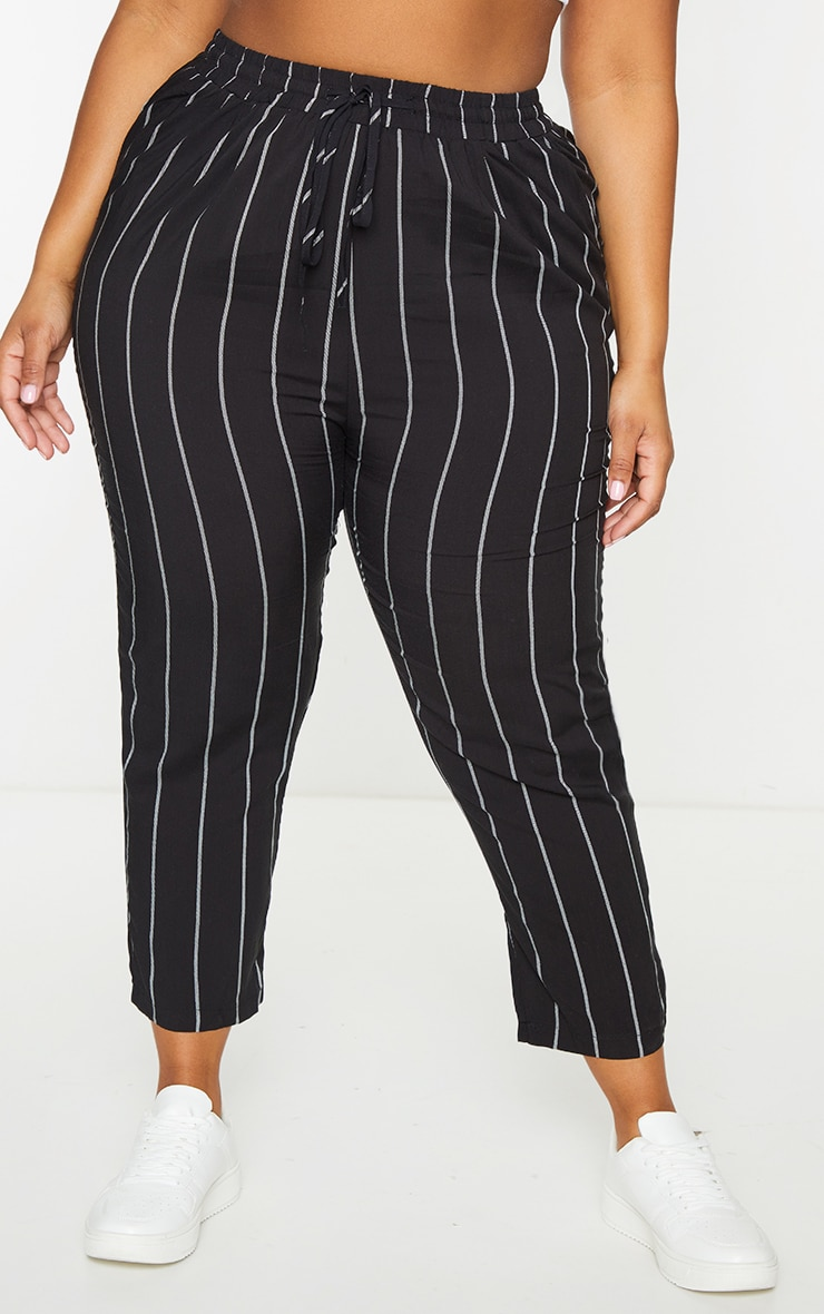 Plus Pin Stripe Casual Trousers 2
