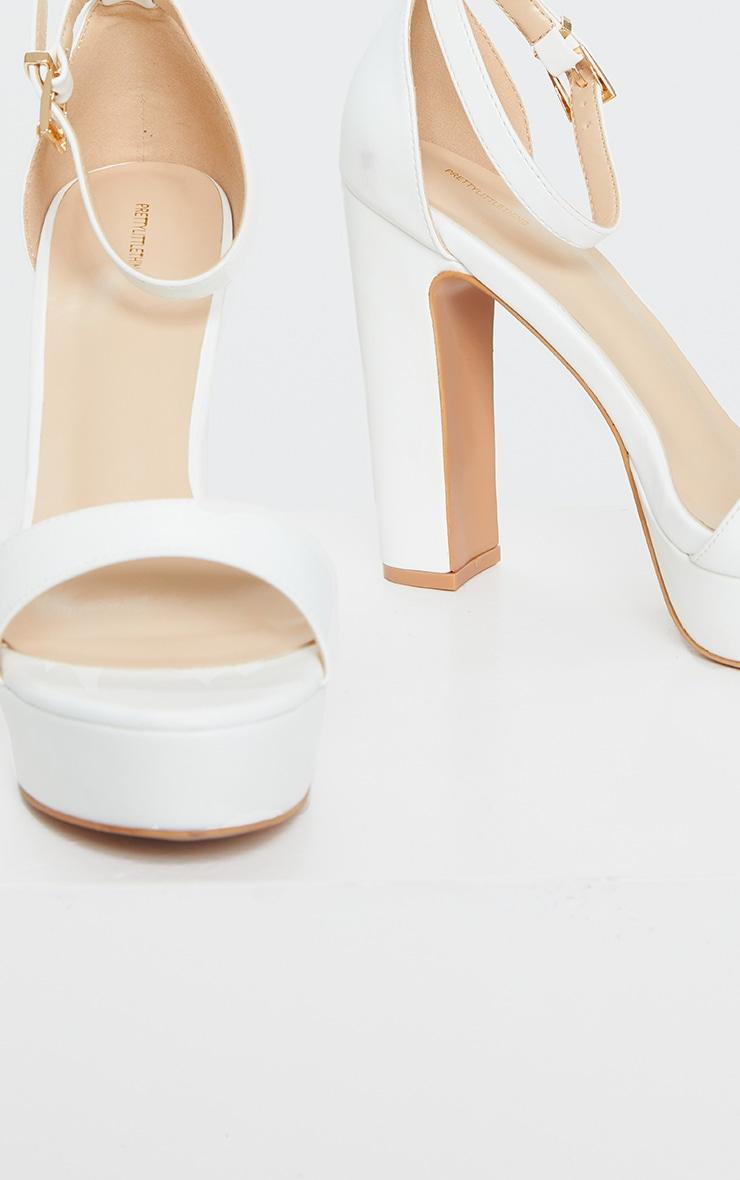 Taya White PU Platform Sandals 3