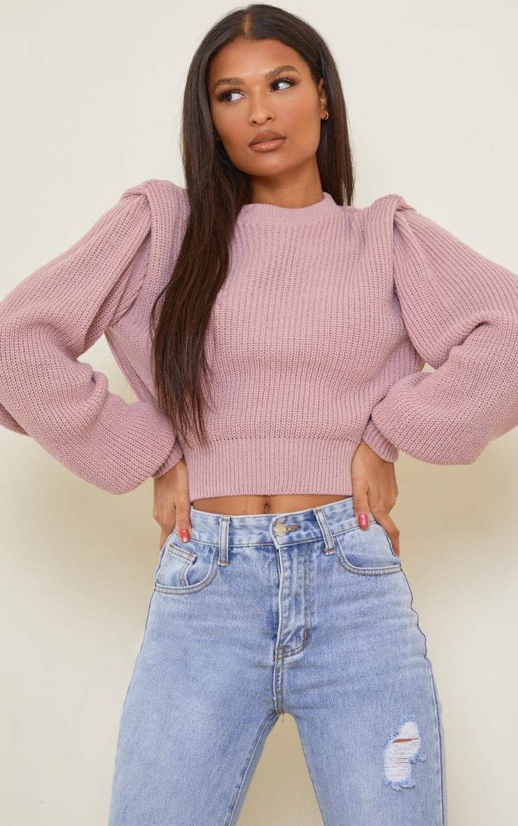Blush Open Back Shoulder Detail Sweater 2