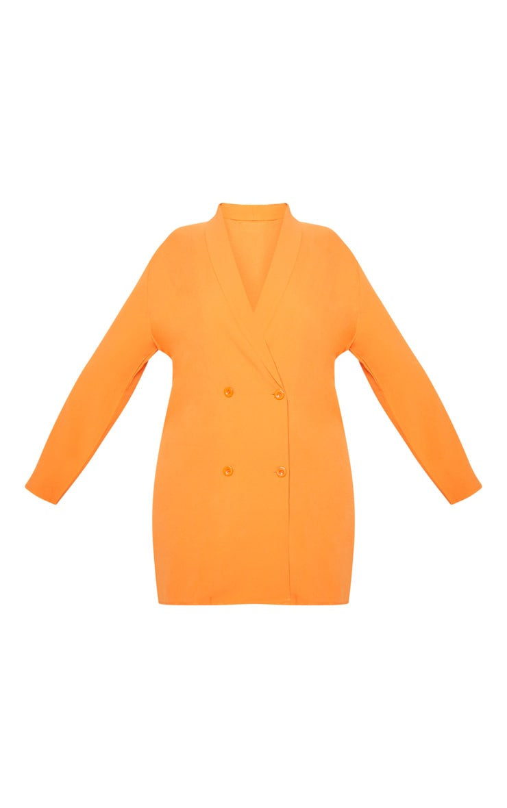 Plus Orange Oversized Blazer Dress 3