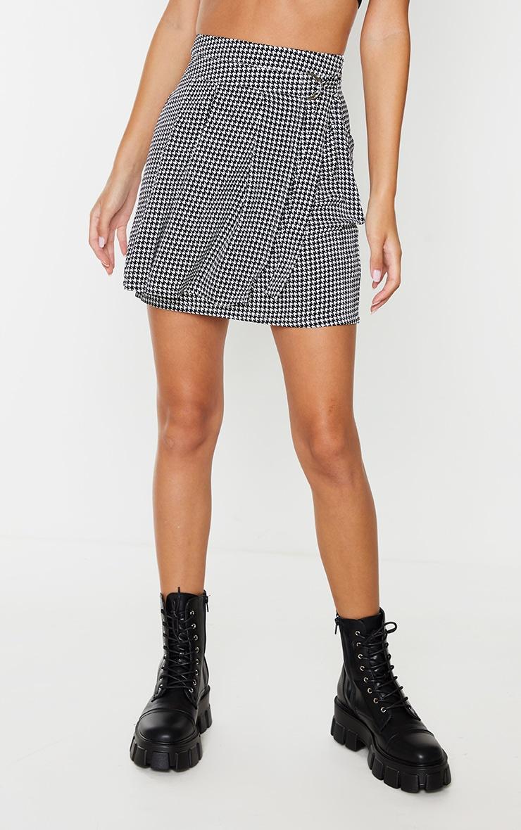 Mini-jupe tissée à imprimé pied-de-poule 2