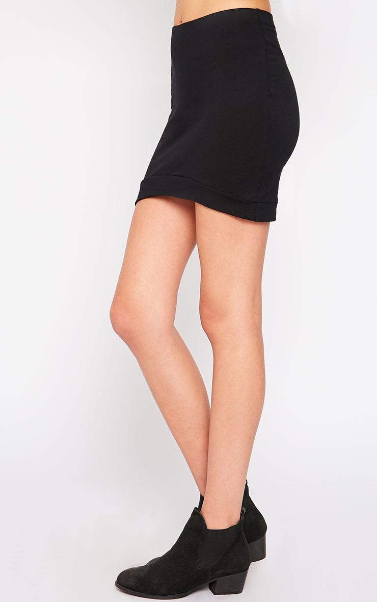 Phoenix Black Curved Hem Mini Skirt 3