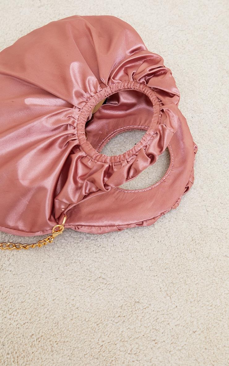 Rose Satin Ruched Handle Grab Bag 4