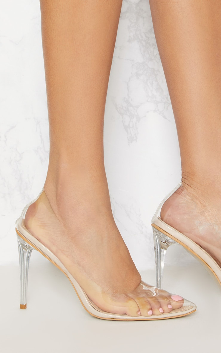 Clear Heeled Court Shoes 5