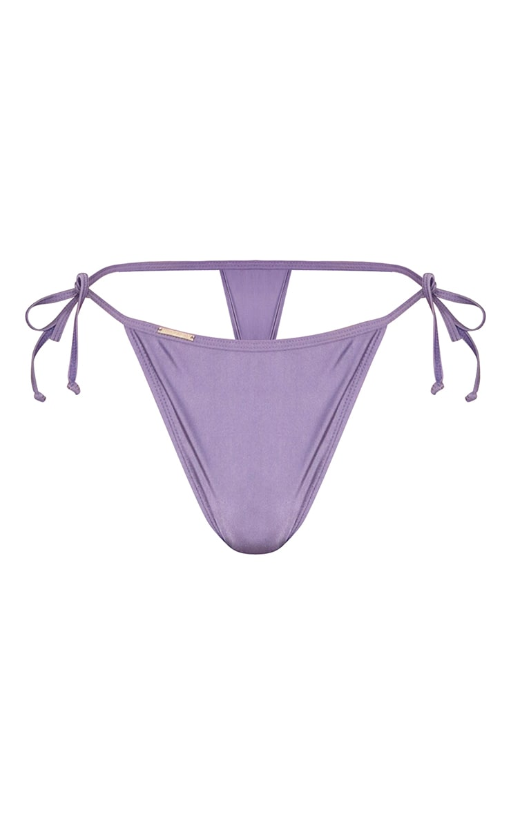 Aubergine Mix & Match Tie Side Bikini Bottoms 6