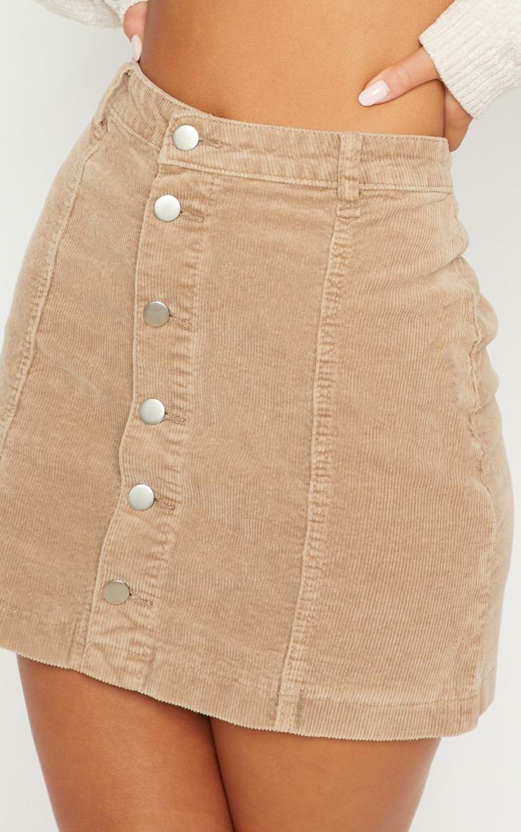 Stone Cord Cammie Button Through Skirt 6