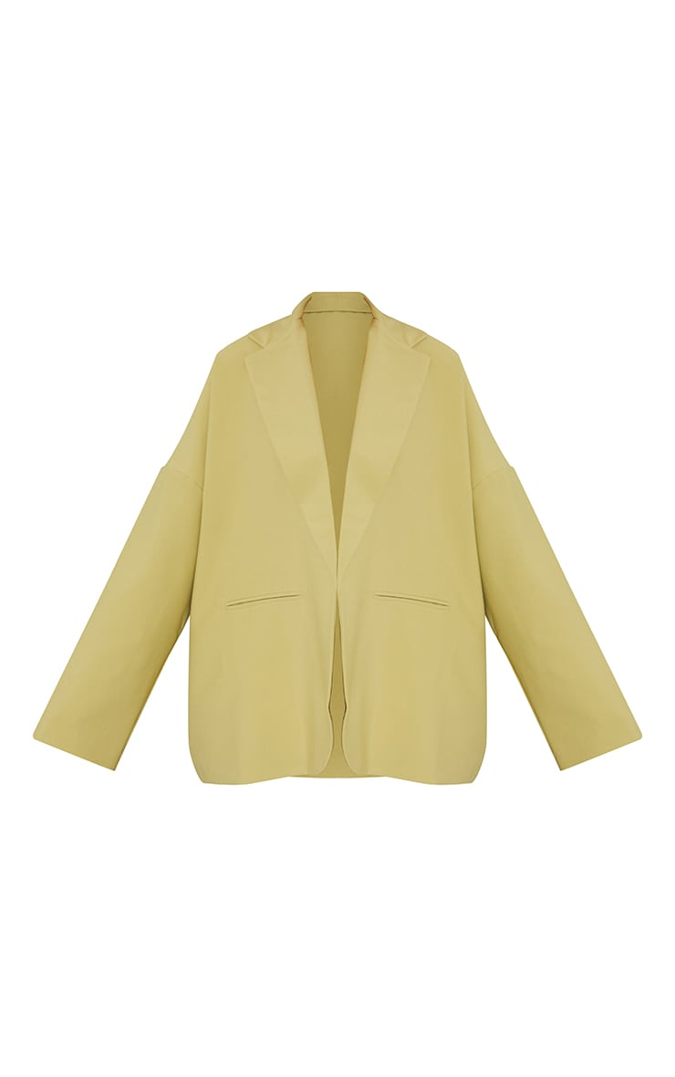 Sage Green Premium Drop Shoulder Oversized Dad Blazer 5