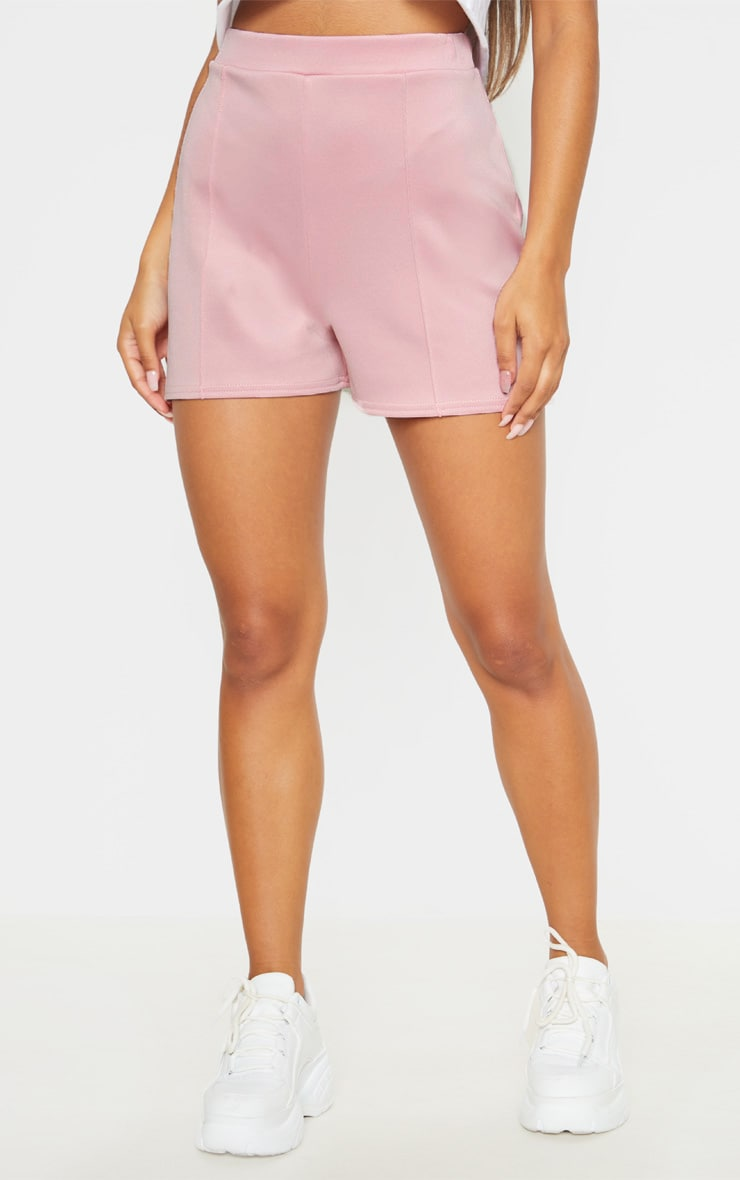 Dusty Pink Seam Detail Tailored Short  2