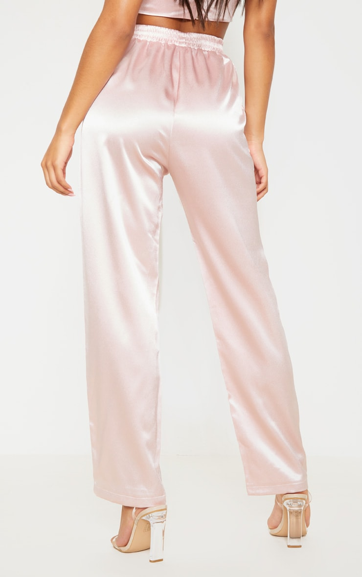 Rose Satin Trouser 4