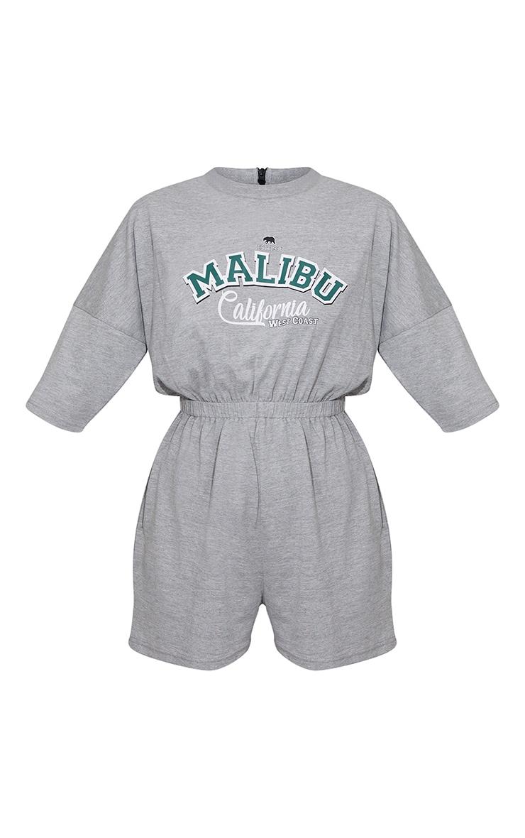 Grey Marl Malibu Edition T Shirt Playsuit 5