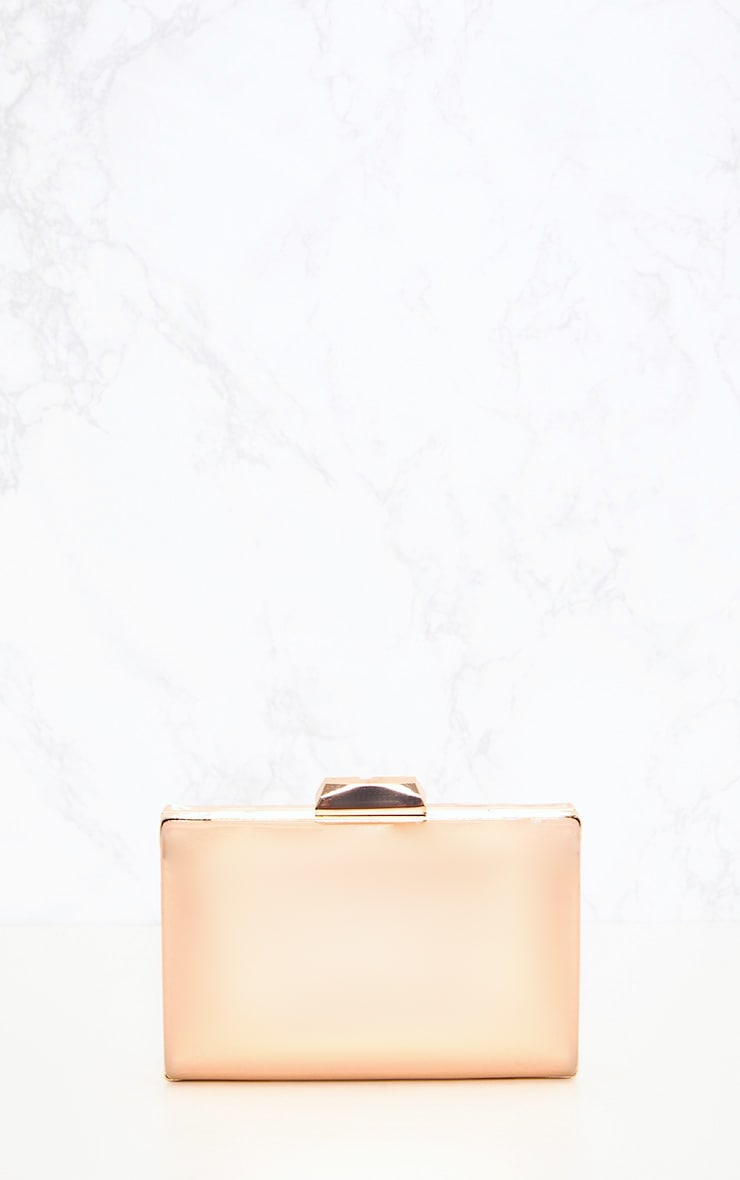 Rose Gold Metallic Clutch 3