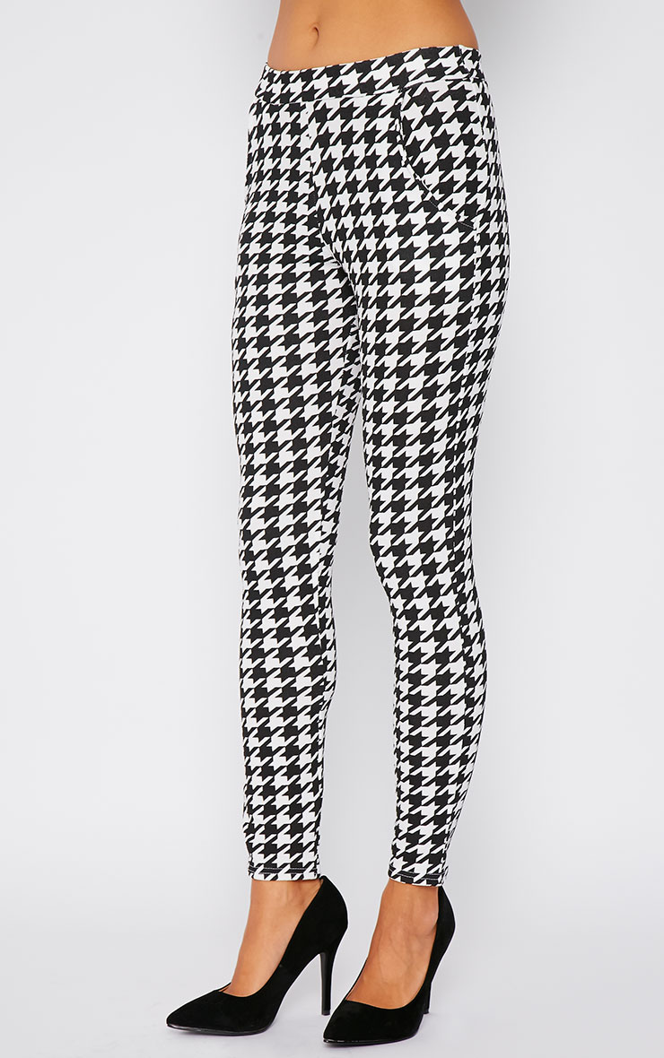 Kavita Monochrome Dogtooth Cigarette Trousers 4