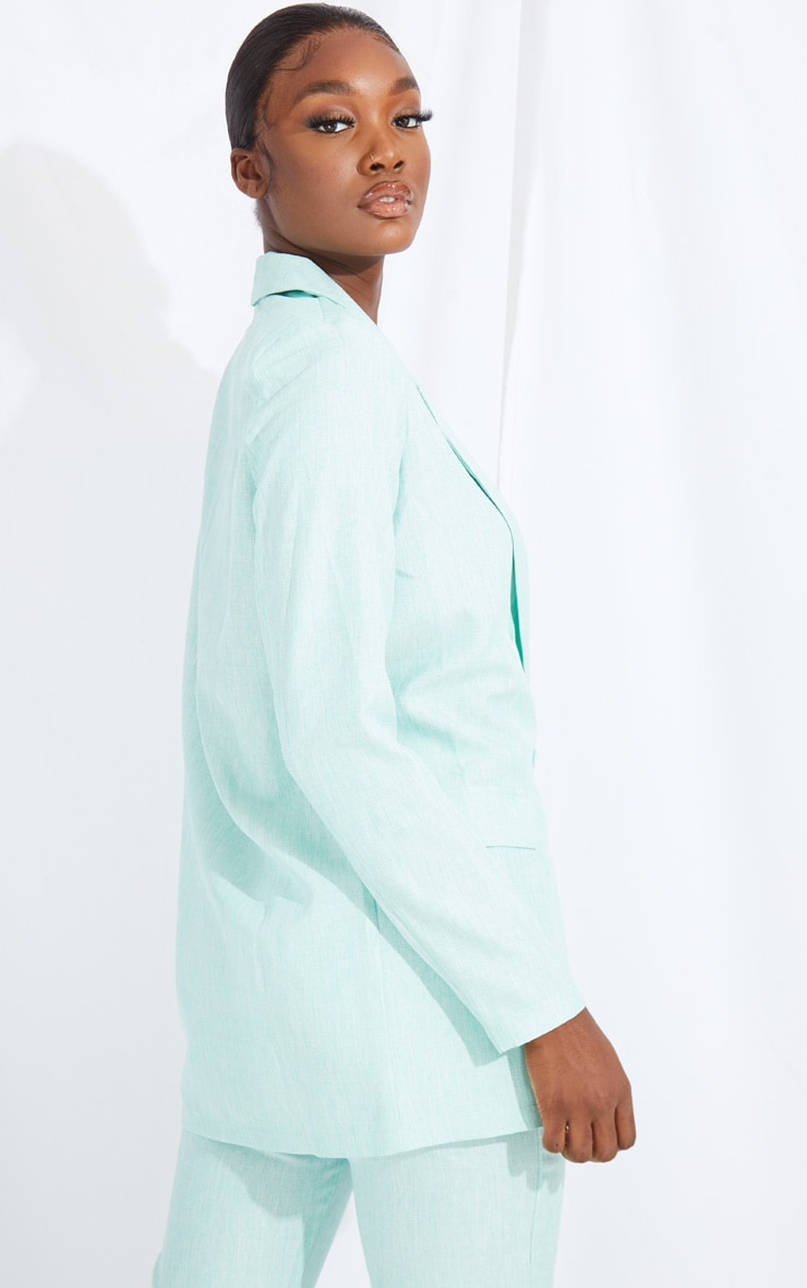 Tall Mint Oversized Boyfriend Blazer 2